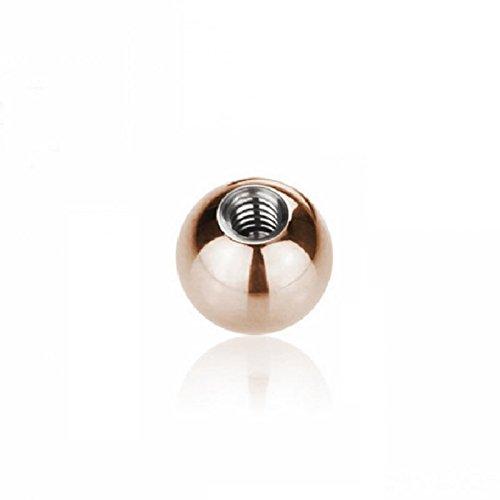 Rosegold Steel - Schraubkugel (Piercing Schraubkugel Aufsatz für Hufeisen, Stäbe, Labrets etc. rosé) Sujet: 1,6 mm   Balle Taille: 8 mm