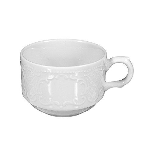 Obere zur Kaffeetasse 1 / 6 Stück Salzburg weiss uni 00003 von Seltmann Weiden
