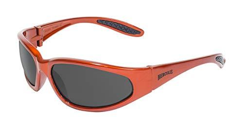 Global Vision Eyewear Hercules Serie Sonnenbrille mit orange Rahmen und Smoke Sicherheit Objektive