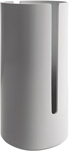 Alessi Birillo PL18 W - Design Toilettenpapierbehälter aus Thermoplastisches Harz und PMMA, Weiß
