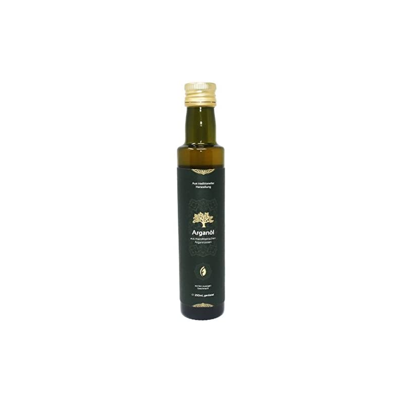 Foodtastic Bio Arganl 250ml Gerstet Kaltgepresst 100 Reine Qualitt Aus Marokko Delikatesse Mit Fein Nussigem Geschmack