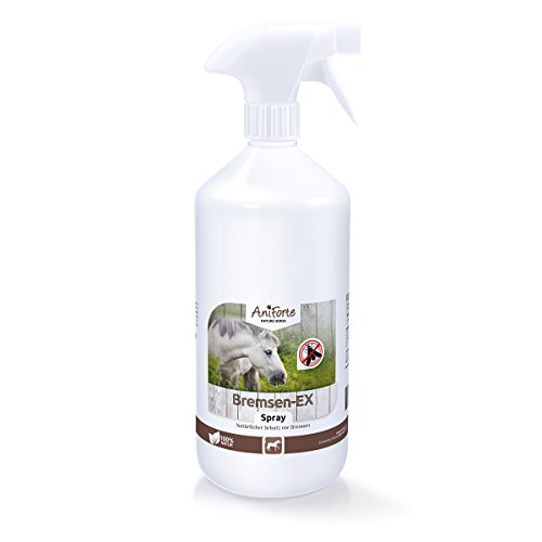 AniForte Bremsen-EX Spray 1 L für Pferde, Natürliches und langanhaltendes Abwehr-Spray gegen Bremsen, Mücken, stechende Fliegen und Parasiten, Bremsen-Blocker, Natürliche Bremsen-Abwehr