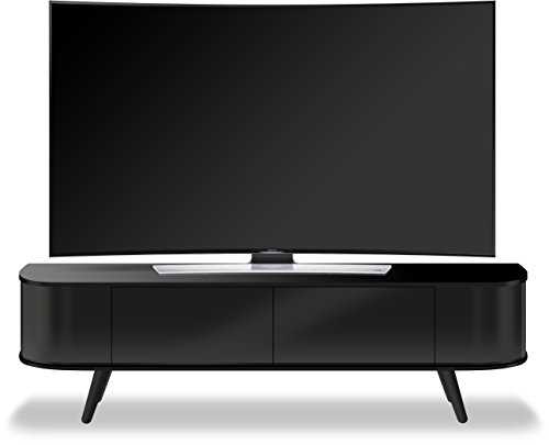 "Centurion Supports LOTTE Beam-Thru-Telecomando Uber, Design contemporaneo, colore: nero lucido, 66,04 cm (26"") 132,08 cm (52"") Mobiletto per TV a schermo piatto"