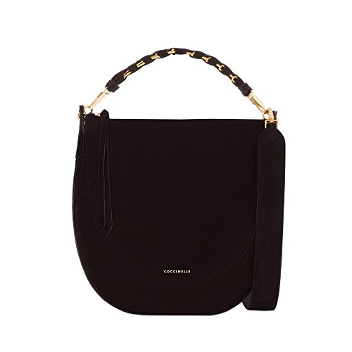Coccinelle Bettina Suede shoulder bag leather chamois black