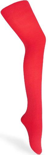 Merry Style Kinder Strumpfhose für Mädchen Microfaser 60 DEN (Rot, 116-122) -