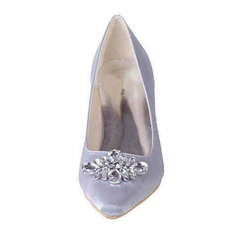 Chaussures De Mariage Pour Femmes L @ Yc Office & Night / Professional Clothing Tip Party / 0723-02 Bleu
