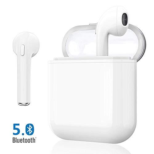 Auricolari Bluetooth 5.0, Cuffie Bluetooth Auricolari Wireless Stereo Senza Fili Sportivi in Ear con Custodia da Ricarica Microfono Leggeri Hi-Fi Cuffie per Samsung iPhone iPad Huawei Sony HTC