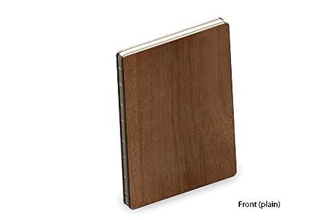Couverture en Bois Véritable de Teck Luxe A5 Bloc-notes / Livre de Croquis