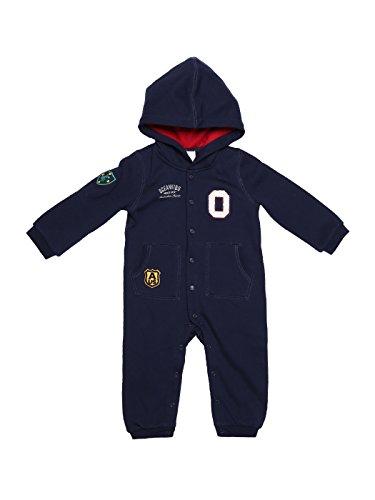 oceankids-mono-bebe-ninos-ninas-azul-marino-con-broches-capucha-punos-acanalados-de-punto-9-12-meses