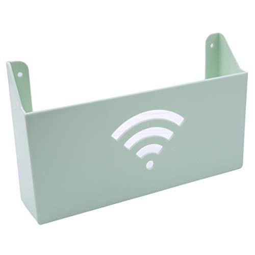 Delivery V WLAN-Router-Ablageregal TV Set-Top Boxen Ablage Zeitschriftenaufbewahrung Wandaufhängung Router Aufbewahrungsbox Deko Box