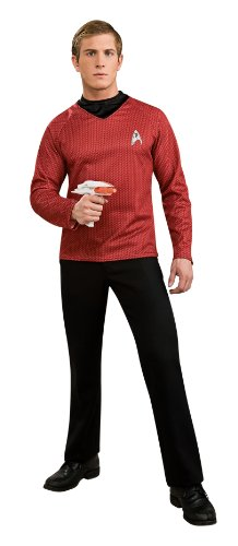 Kostüm Rot Voyager Star Uniform Trek - Rubie's Star Trek Deluxe-Kostüm, Rot, Größe S