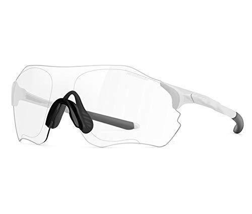 Fahrrad-Sonnenbrille, Helle Okulare, High-Definition Große Sicht Feld Ergonomisches Rahmenloses Design, Um Die Augen Für Männer Und Frauen Universal Zu Schützen,White
