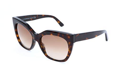 Balenciaga Damen Sonnenbrille, Brown, 54