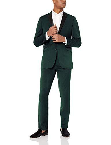 Mariage Kostüm Gris - HOTK Herren Maßgeschneiderte Slim Fit Kerbe Revers 2 Stück gut aussehend Business Hochzeit formellen Anzug