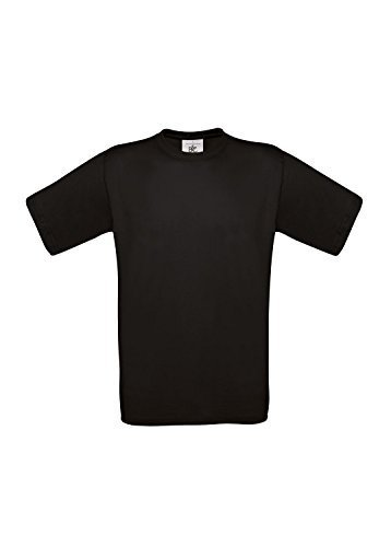 10 B&C T-Shirts Exact 190 kurzarm T-Shirt S-3XL in verschiedenen Farben BCTU004 X-Large,Black (C C Shirts)