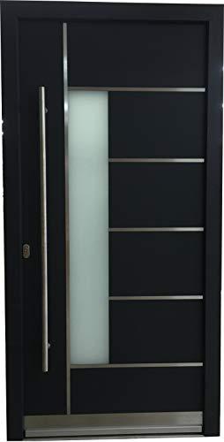 Haustür Welthaus WH94 RC2 Premiumtür Aluminium mit Kunststoff LA 40 Tür AUF LAGER Tür 1000x2100mm DIN Links Farbe aussen Anthrazit Innen weiß außengriff BGR1400 innendrucker M45 Zylinder 5 Schlüßel