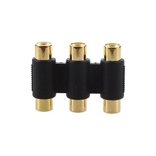SODIAL(R) Triple 3 RCA Fonografo a RCA Fonografo Hembra Conector / Acoplador [Electronico]