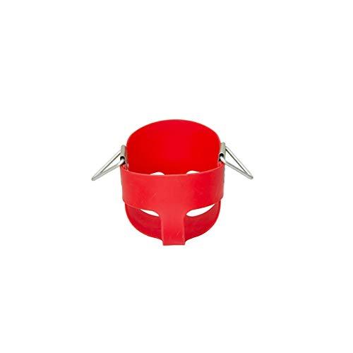 YShop Vollschalen-Schaukelsitz mit hoher Rückenlehne, Hochleistungs-Kleinkind-Schaukelsessel for das Fitnessstudio mit beschichteten Ketten, vollständig zusammengebaut (Color : Red) -