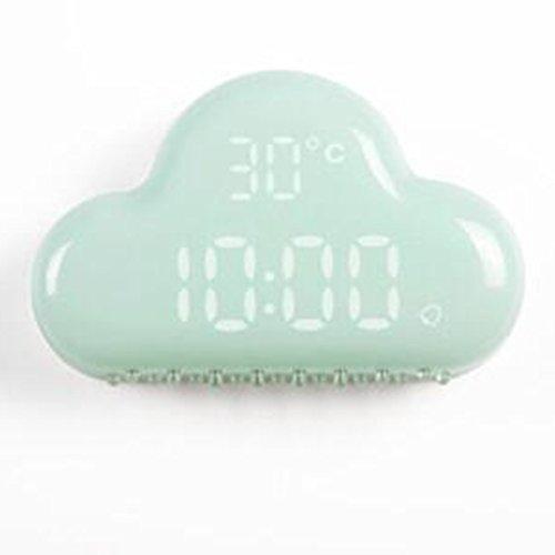 Silenciar la cabecera de luminiscencia reloj electrónico LED inteligente de alarma del reloj despertador nube hijos de voz de los estudiantes creativos relojes