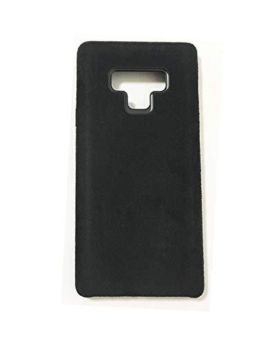 PDA-Punkt Dual Alcantara Leder Handyhülle für Samsung Galaxy Note 9 Cover/Case/Hülle SCHWARZ Punkte 9