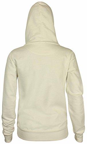 Neuf Pour Femmes Front Sweat Capuche Fermeture Éclair À Manches Longues Femmes Sweat-shirt Uni Capuche Polaire Veste Capuche Blanc