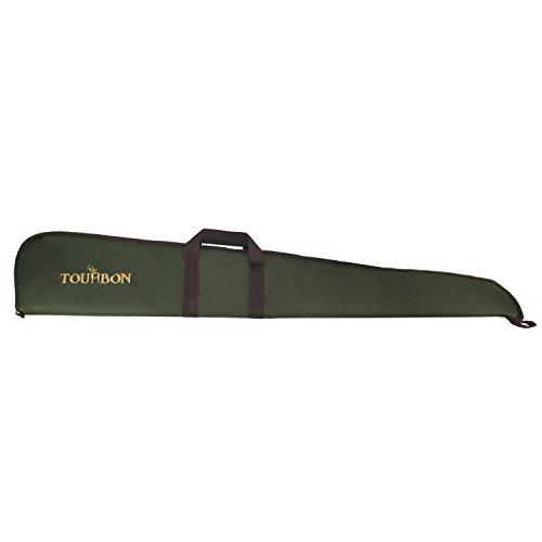 Tourbon chasse fusil de chasse tactique étui pistolet Sac (Vert avec bordure violet, 127 cm)
