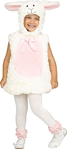 Baby Toddler Boys Girls Fluffy White Lamb Farm Animal World Book Day Week Nursery Dress Up Fancy Dress Costume Outfit (2-3 years, Lamb)