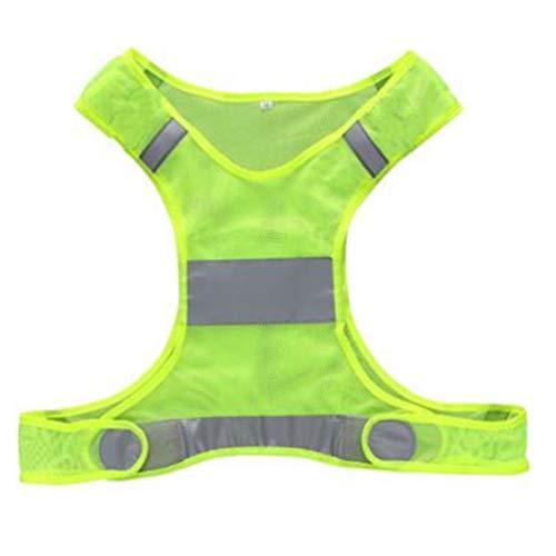 Sicherheitswesten Kinder Outdoor Nacht Sport reflektierende Weste Sicherheitsweste Strap Reiten Laufen Code Sicherheitstechnik (Color : Yellow) (5 Ordner Abschnitt)