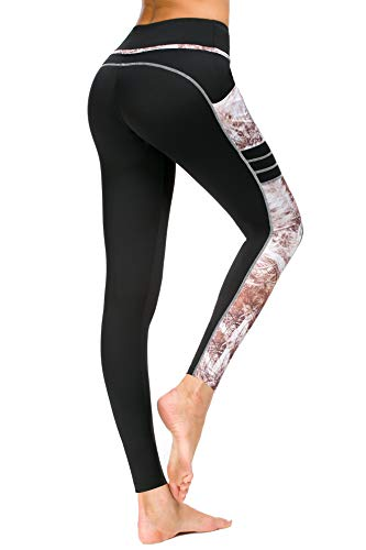 6fca0d360c06 New Mincc Leggings Donna Sportivi Pantaloni Per Yoga Allenamento Fitness  Vite Alta Opaco Stampati con Tasca