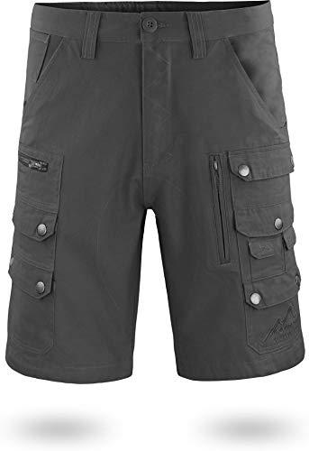 normani Arbeitsshort für Herren mit diversen Taschen Cargo-Shorts und extra Zollstocktasche aus 100% Bio-Baumwolle Farbe Anthrazit Größe XXL Polar Shorts
