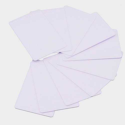 100 x Blank Weiß PVC Plastik Karten CR-80 30mil Kompatibel Mit ID Karten Drucker Von Timeskey NFC - Karten-drucker