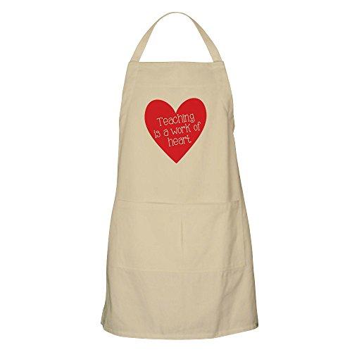 CafePress–Rot Lehrer Herz–Küche Schürze mit Taschen, Grillen Schürze, Backen Schürze khaki