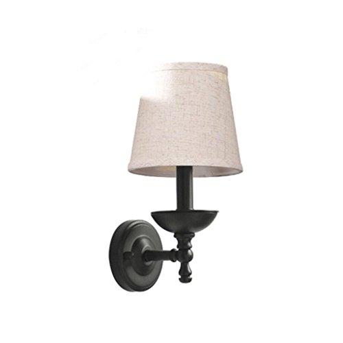 SUN LL Stil Eisen Bett Kopf Wand Lampe Spiegel vorne Lampe Schlafzimmer Studie Raum Wohnzimmer Wand Wand Lampe einzigen Kopf Wand Lampe (Farbe : Grau)