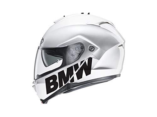 SUPERSTICKI 2X BMW Schriftzug Helmaufkleber Helm Motorrad Aufkleber Bike Auto Racing Tuning aus Hochleistungsfolie Aufkleber Autoaufkleber Tuningaufkleber Hochleistungsfolie für alle Glatte (Motorrad Helm Bmw)