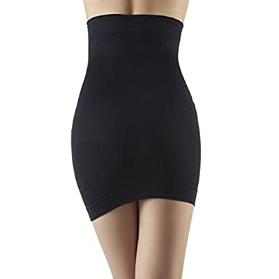 PhilaeEC Women's High Waist Body Shaper Abdomen Pencil Skirt Half Slip Tummy Control
