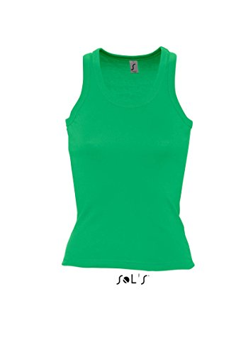 Sol´s Damen Tank Top Coconut Racerback Vest. Ärmelloses T-Shirt Bright Green