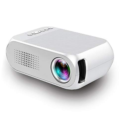 MachinYesity Proiettore di Film Portatile Intelligente 1080P del Video del teatro Domestico Digitale di YG320 LED per Il teatro Domestico US EU AU Presa UK Bianco Presa UE