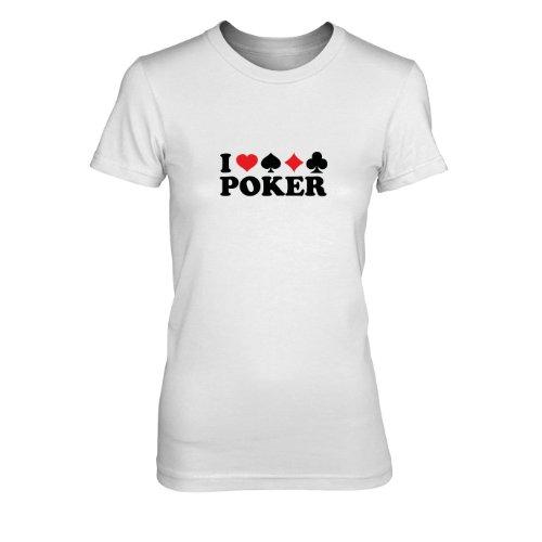 I love Poker - Damen T-Shirt, Größe: XL, Farbe: ()