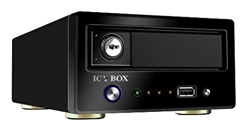 Icy Box IB-NAS6210 NAS Media Server für SATA Festplatte 8,9 cm (3,5 Zoll) 2x USB 2.0