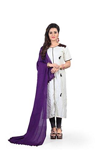 Anand Sarees presents cotton duppata Purple colour ( DP_2 )