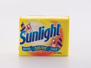 Twin Pack (150 grams x 2) Sunlight Soap Bar Pure and Mild for Various Uses Laundry Care Detergent Stain Removal Hand Wash Fresh Lemon Citrus Scent Vintage Rare