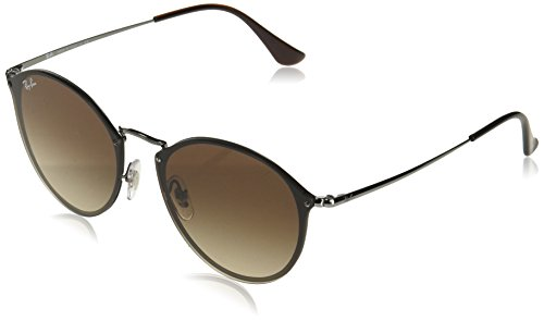Ray-Ban Unisex-Erwachsene 0RB3574N 004/13 59 Sonnenbrille, Gunmetal/Browngradient