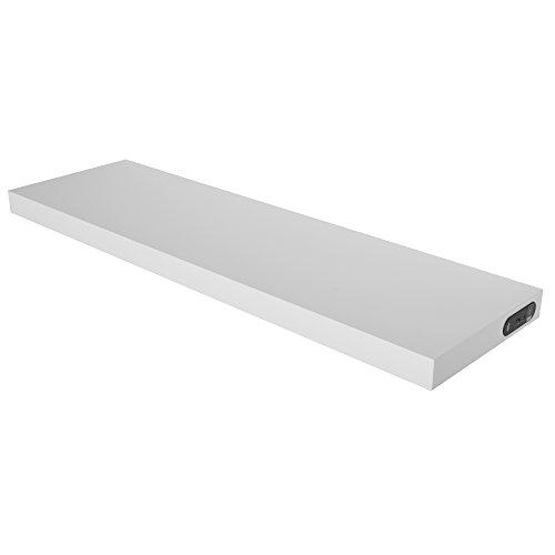 Duraline 1185002 Shelf Wandregal mit integrierten Wireless Lautsprechern weiß, 80 x 23,5 x 3,8 cm