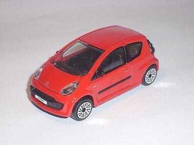 CITROEN C1 C 1 ROT RED 1/43 BBURAGO BURAGO MODELLAUTO MODELL - Modell Citroen