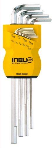 """INBUS® 70358 Inbusschlüssel Zoll Set 10tlg. 0.05-5/16""""   Made in Germany  Innensechskant-Schlüssel   Winkel-Schlüssel  0.05   1/16   5/64   3/32   1/8   5/32   3/16   7/32   1/4   5/16   Inch   Imperial   Zöllige Größen"""