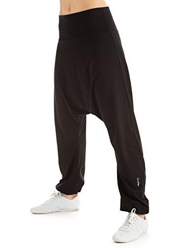 Winshape WH7Dance Fitness tempo libero Sport Training-Pantaloni harem pantaloni, Donna, Winshape Damen Trainingshose Haremshose WH7 Dance Fitness Freizeit Sport, nero, XL