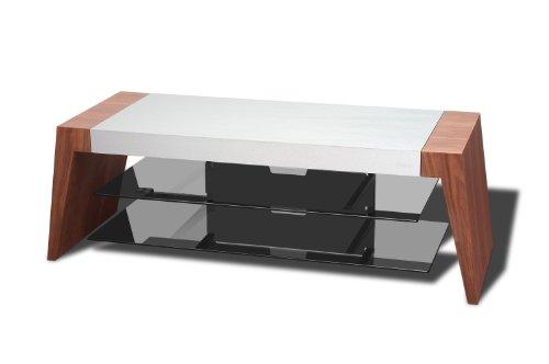 Techlink Form fm120tw TV Ständer Geeignet für Bildschirme bis 127cm–Titan/Walnuss (Tv-ständer Titan)