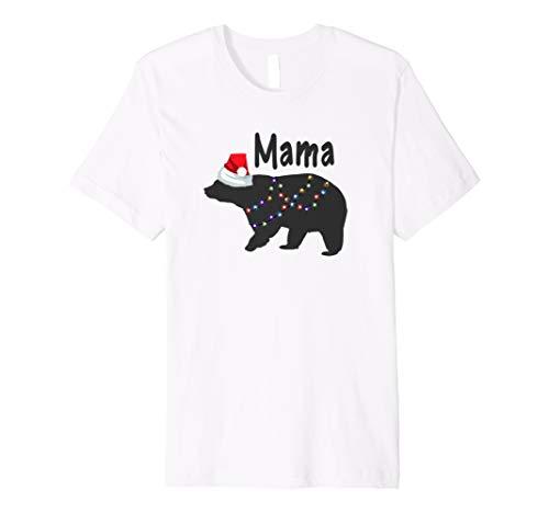 Passende Weihnachten Schlafanzüge für Familie T-Shirt Mama Bär Mädchen