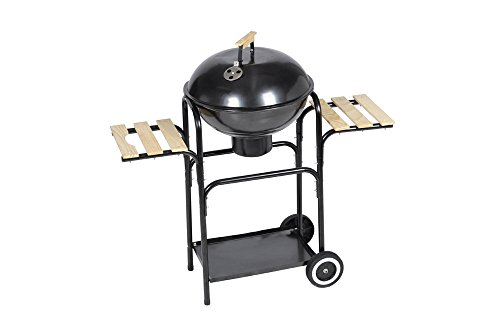 vidaXL KETTLE CHARCOAL BBQ GRILL BARBECUE STEEL