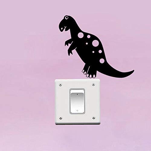 amayituo Personalisierte Dinosaurier Wandaufkleber Schlafzimmer Kinderzimmer Aufkleber Vinyl Transfer Switch Decor 3Ss0214 @ Schwarzlichtschalter Aufkleber